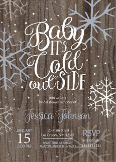 Baby It's Cold Outside Bridal Shower Décor, Food, and Favors
