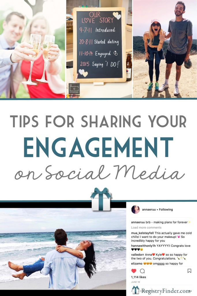 Tips for Sharing Your Engagement on Social Media