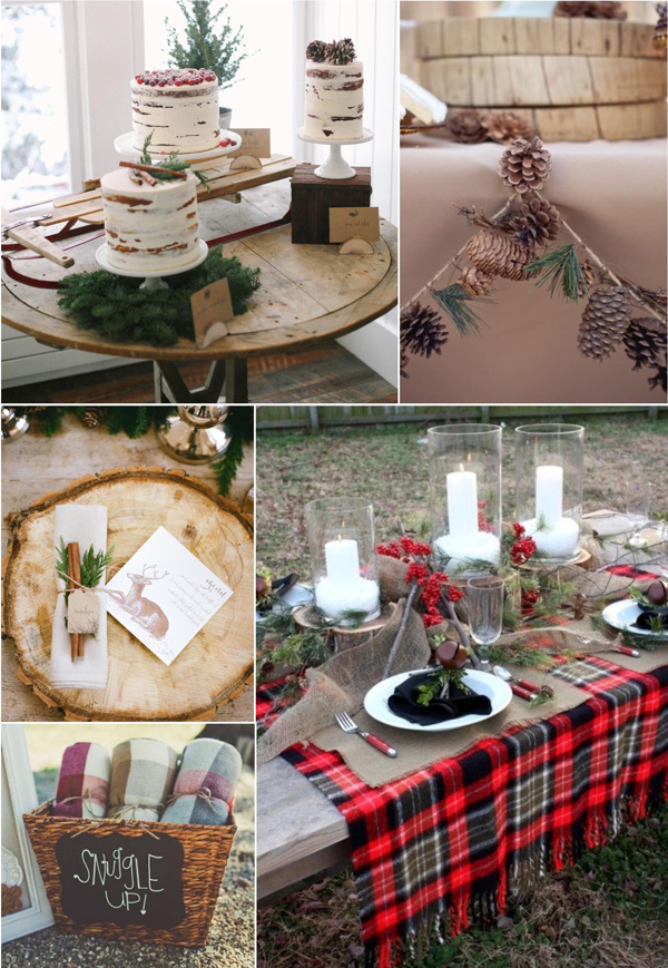 Flannel and Frost Bridal Shower Décor, Food, and Favors