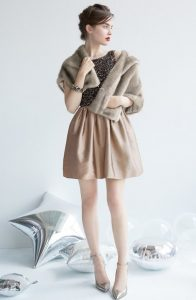 silky-smooth faux fur capelet