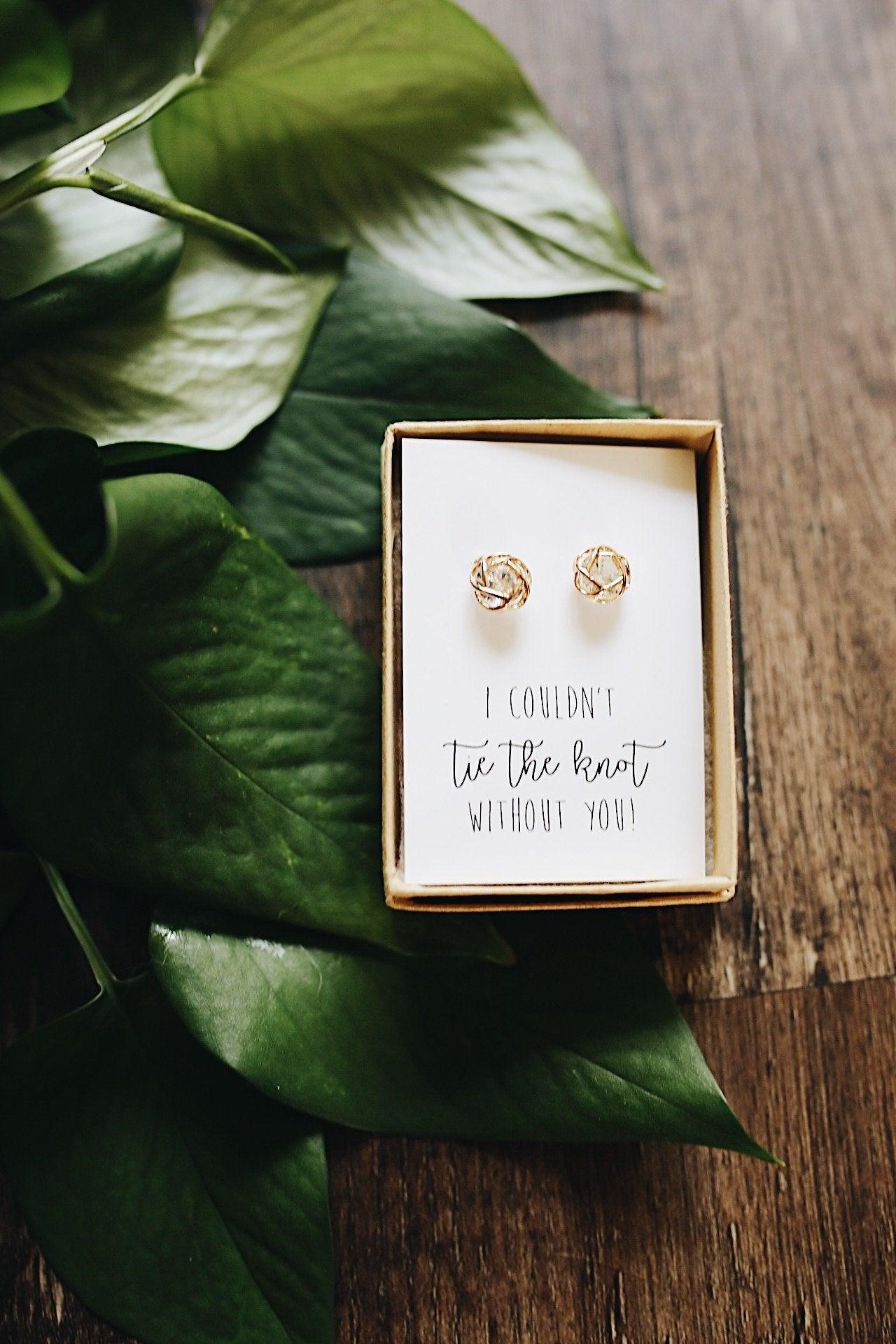 knot earrings for bridesmaid