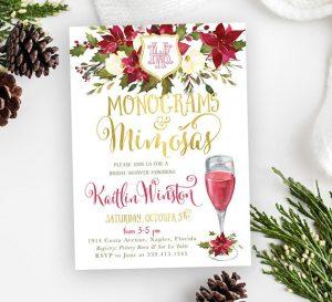 Monograms and Mimosas Invitation