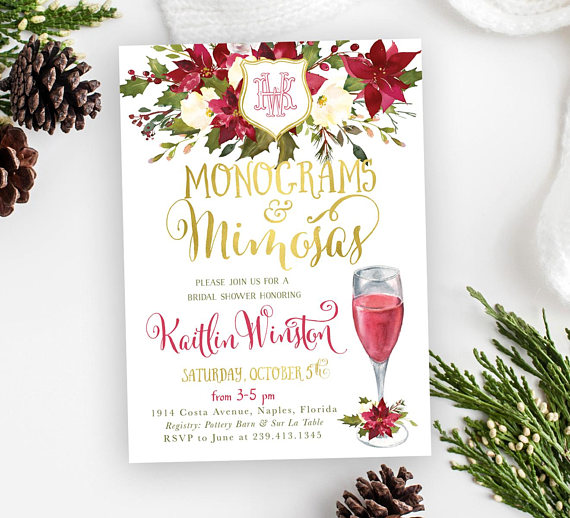 Monograms and Mimosas Invitation