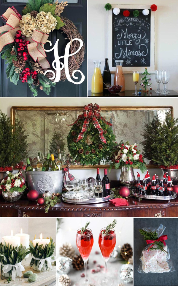 Monograms and Mimosas Christmas Bridal Shower Décor, Food, and Favors