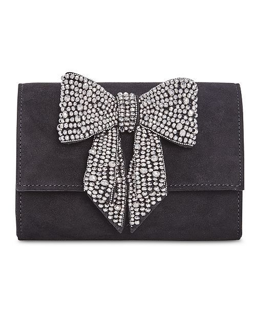 Winter Wedding Accessories | Rhinestone Bow Clutch