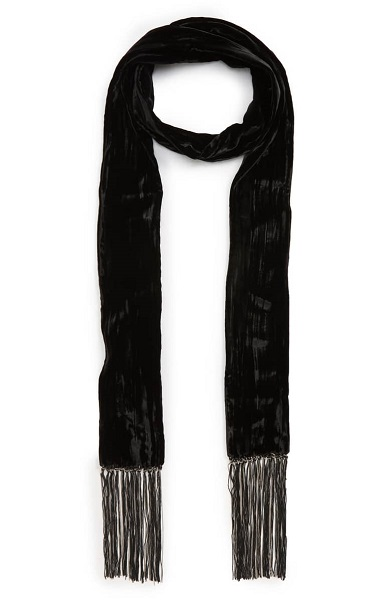 Winter Wedding Accessories | Velvet Skinny Scarf