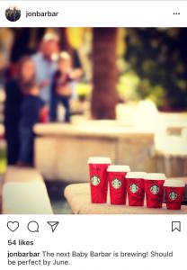 Starbucks Pregnancy Announcement