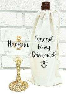 Cute Ways to Ask Your Bridesmaids with Wine