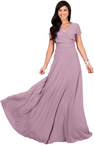 Affordable Bridesmaid Dresses | Sexy Cap Sleeve Gown