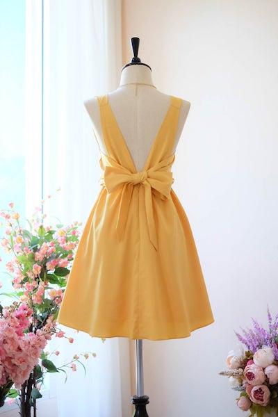 Affordable Bridesmaid Dresses | Mustard Yellow Bridesmaid Dress