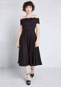 Affordable Bridesmaid Dresses   Timeless Favorite Off-The-Shoulder Dress
