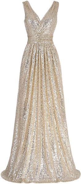 Affordable Bridesmaid Dresses | Sequin Sleeveless Maxi Dress