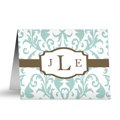 A Guide to Thank You Notes | Monogrammed thank you note from Personalization Mall