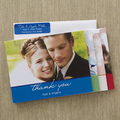 A Guide to Thank You Notes | Wedding photo thank you note