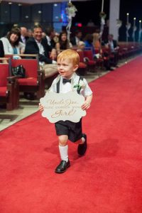Personalize Your Flower Girl and Ring Bearer with a Cute Sign