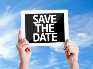 Save the date | Holiday weekend wedding