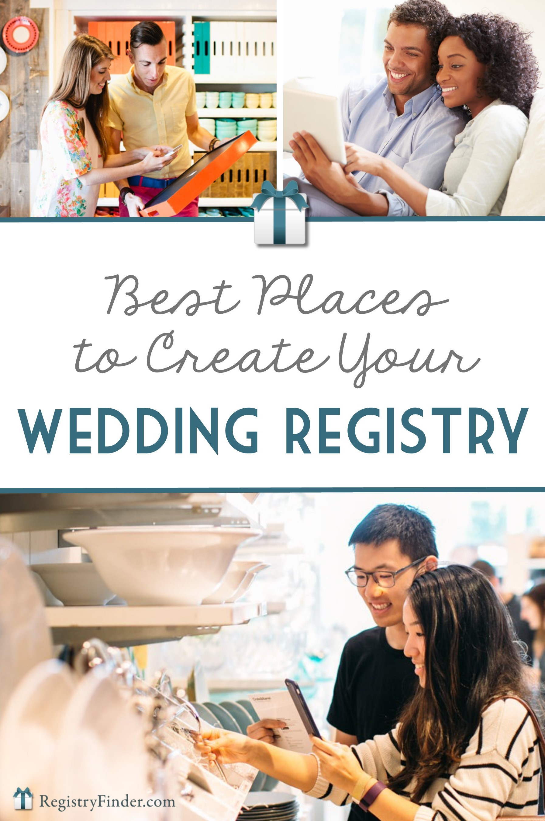 The best places to create your wedding gift registry for Top places for wedding registry