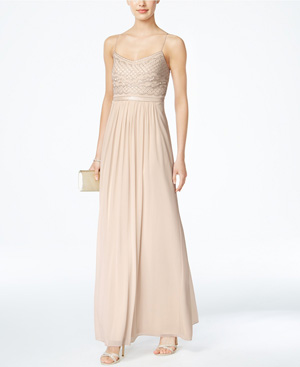 Adrianna Papell Beaded Chiffon Bridesmaid Gown from Macy's Wedding Shop