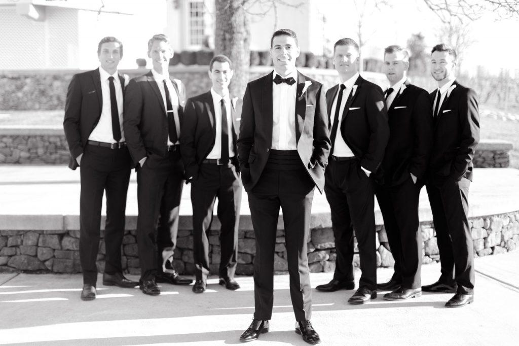 Groom and groomsmen wedding photography