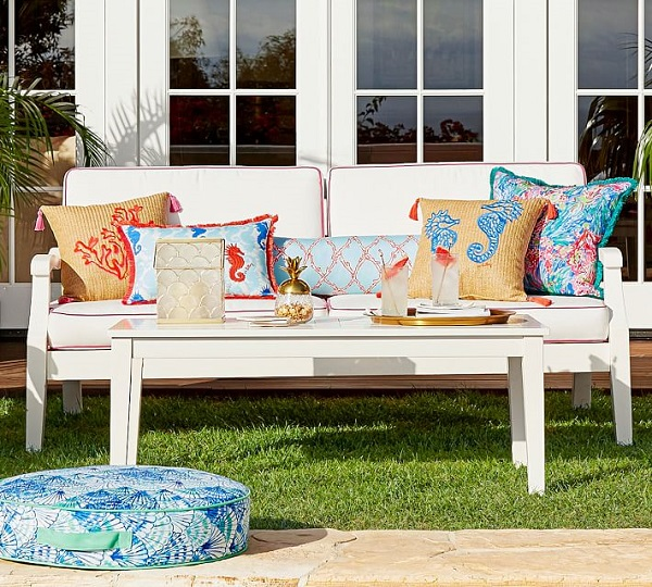 Pottery Barn and Lilly Pulitzer | Outdoor Sofa
