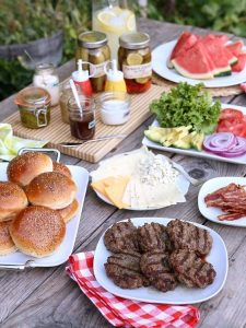 Co-Ed baby shower build your own burger bar