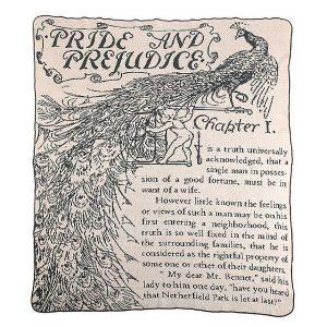 Pride and Prejudice throw blanket Uncommon Goods