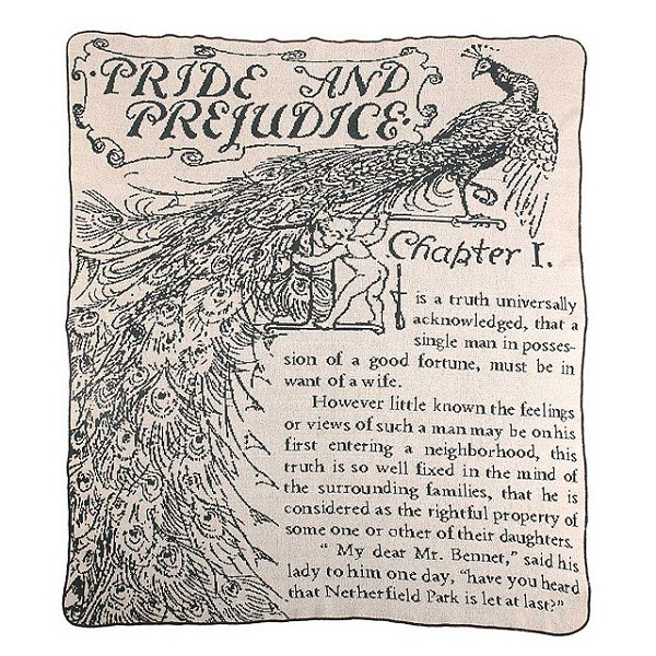 Pride and Prejudice throw blanket Uncommon Goods