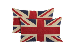 Red Union Jack Toss Throw Pillow 2 Pack Target
