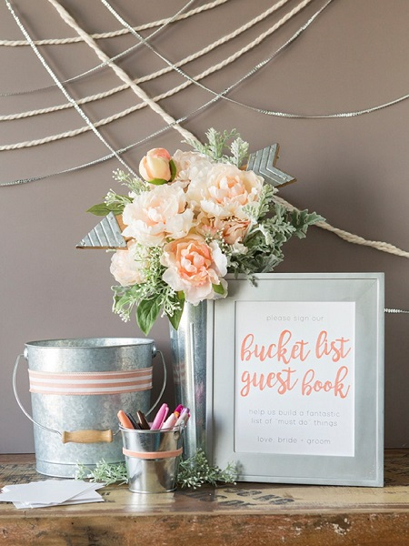 Sweet Wedding Guestbook Alternatives | Bucket List Guestbook