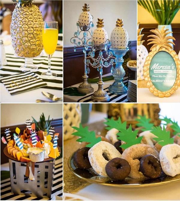 Pineapple cake toppers and donut toppers form Etsy