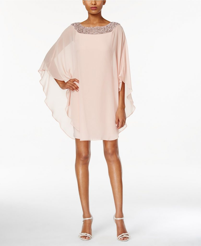 What to Wear to Your Rehearsal Dinner | Blush Cape Dress