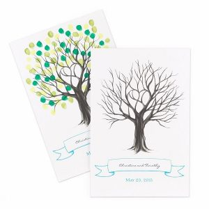 Wedding Guestbook Alternatives for the Non-Traditional Couple | Thumbprint Wedding Tree