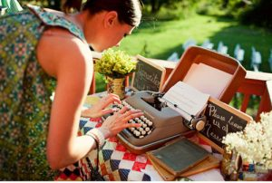Wedding Guestbook Alternatives for the Non-Traditional Couple | Endless Scroll Typewriter