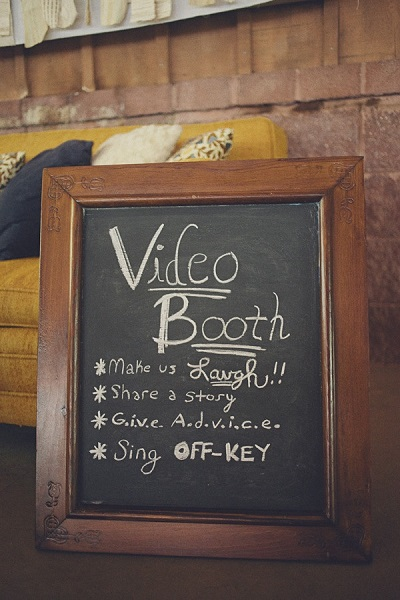 Video booth Wedding Guestbook Alternatives for the Non-Traditional Couple