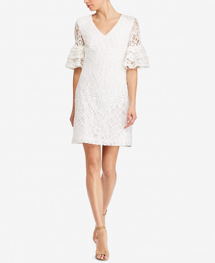 White Rehearsal Dinner Dress | White Lace Dress