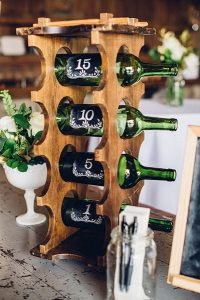 Anniversary Wine Bottles for a Wedding Guestbook