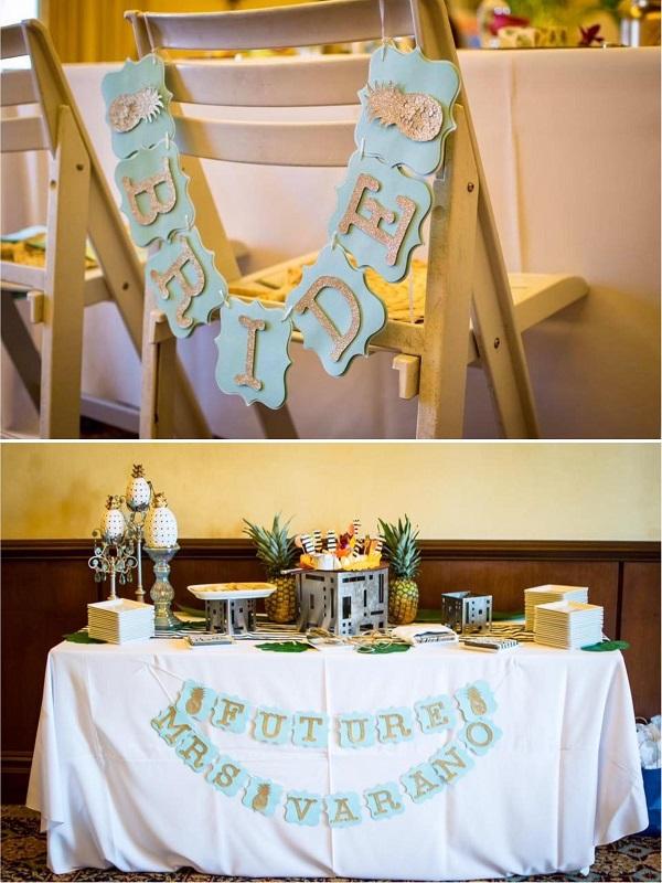 Pineapple custom bride banner from Etsy