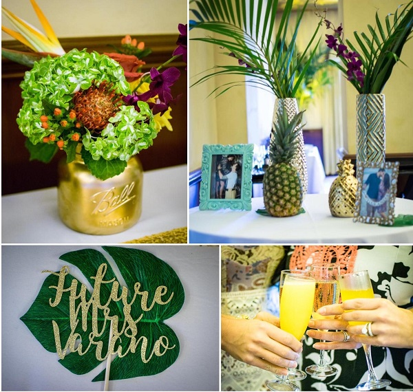 Tropical bridal shower decorations | custom cake topper Etsy