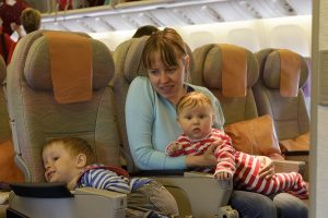 flying with newborn | Friendly passengers can be a big help