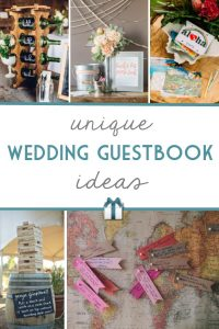 Make your wedding guestbook as unique as your big day with these fun and creative alternatives for the non-traditional couple!