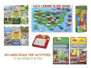Kid road trip activities not messy