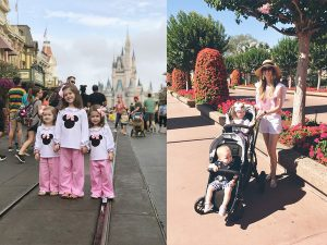 Disney travel tips | Uppababy vista stroller with rumble seat | Disney outfits