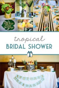 Be inspired by this cute and colorful real-life tropical bridal shower. It's the perfect fit for a summer celebration!