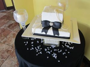 Breakfast at Tiffany's Bridal Shower Cake
