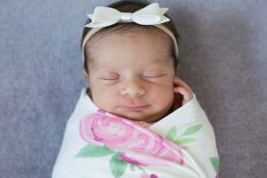 Copper Pearl Swaddle Blanket Grace Print