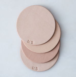 Unique Registry Items From Food52 | Monogram Leather Coasters