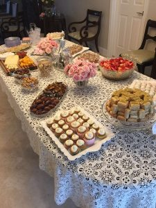 Simple Appetizers and Desserts at a Sip and See