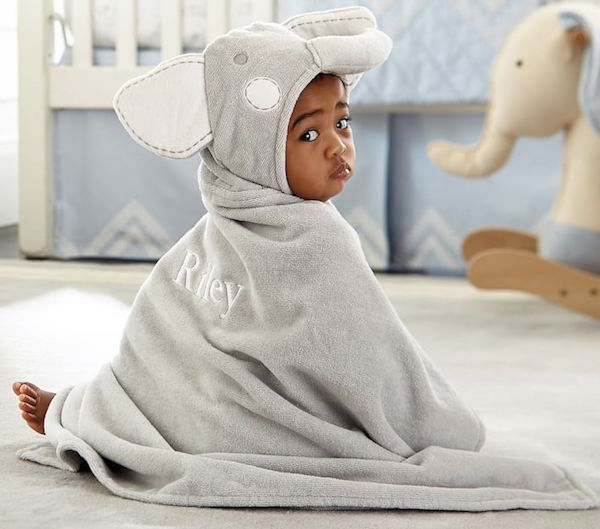Pottery barn kids hooded towels