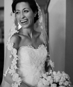 Christina Peterson, who loved every minute of being a bride!