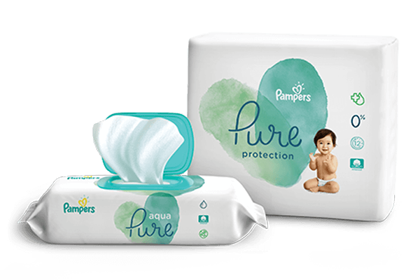 Pampers Pure Collection Diapers and Wipes